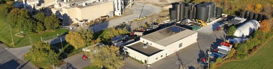 Arial photo of the Da-Lee head office, manufacturing facility and truck yard